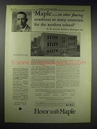 1929 Maple Floor Ad - Central Grade School, Huntington