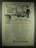 1929 Maple Flooring Manufacturers Association Ad