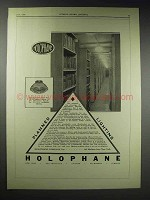 1929 Holophane Light Ad - Boston Public Library