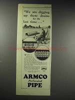 1929 ARMCO Culvert Ad - Digging Up Drains Last Time