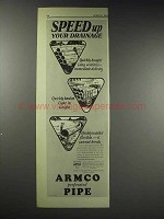 1929 ARMCO Culvert Ad - Speed up Your Drainage