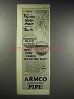 1929 ARMCO Culvert Ad - Winter Blows Down