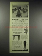 1929 Toledo Metal Furniture UHL Cafeteria Equipment Ad