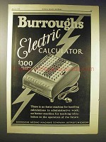 1929 Burroughs Electric Calculator Ad