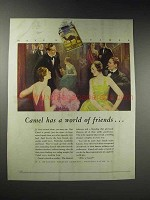 1929 Camel Cigarettes Ad - Has a World of Friends