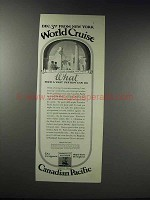 1925 Canadian Pacific World Cruise Advertisement