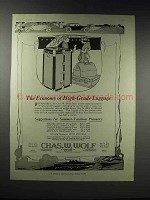1920 Chas. W. Wolf Trunks and Luggage Ad - Economy