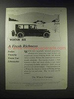 1920 Winton Six Sedan Victoria Town Car Limousine Ad