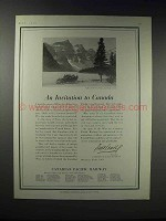 1919 Canadian Pacific Railway Ad - An Invitation
