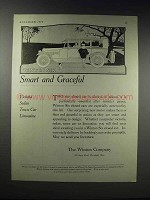1919 Winton Six Victoria Sedan Town Car Limousine Ad