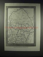 1918 Road Map of Maine - Principal Motor Routes