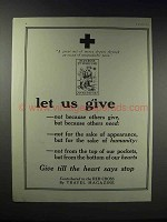 1918 Red Cross Ad - Let Us Give