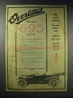 1916 Willys-Overland Roadster Ad - No Such Power