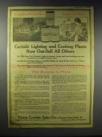 1916 Union-Carbide Light and Cooking Plants Ad