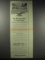 1914 Quaker Puffed Wheat & Rice Ad - Meeting Place