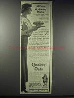 1914 Quaker Oats Ad - Miillions of Loving Hands