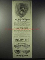 1914 Quaker Puffed Wheat & Rice Ad - Do I Get?