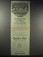 1914 Quaker Oats Ad - A World-Full of Children