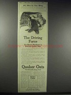 1914 Quaker Oats Ad - The Driving Force