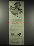 1914 Quaker Puffed Wheat & Rice Ad - Who Ever Forgot
