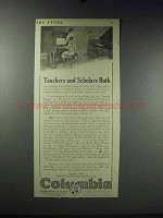 1913 Columbia Pianoforte Records Ad - Teachers Scholars