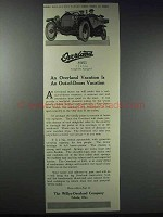 1913 Willys-Overland Cars Ad - Out-of-Doors Vacation