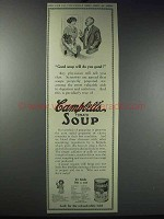 1913 Campbell's Tomato Soup Ad - Will Do You Good