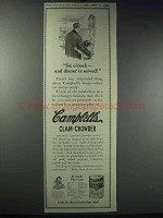 1913 Campbell's Clam-Chowder Ad - Six O'Clock Dinner