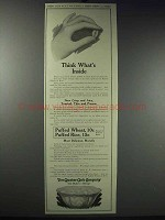 1913 Quaker Puffed Wheat & Rice Ad - What's Inside