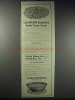 1913 Quaker Puffed Wheat & Rice Ad - Explosions Inside