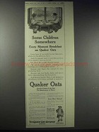 1913 Quaker Oats Ad - Some Children Somewhere