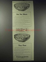 1913 Quaker Puffed Wheat & Rice Ad - Not Nut Meats