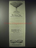 1913 Quaker Puffed Wheat & Rice Ad - We Envy You
