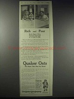 1913 Quaker Oats Ad - Rich and Poor