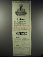 1913 Van Camp's Pork and Beans Ad - I'm Ready