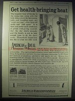 1913 American Radiators & Ideal Boilers Ad - Health