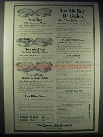 1913 Quaker Puffed Wheat & Rice Ad - Let Us Buy
