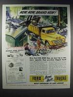 1948 Ford Trucks Ad - 39% More Capacity