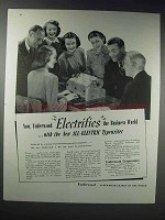 1948 Underwood All-Electric Typewriter Ad - Electrifies