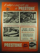 1948 Eveready Prestone Anti-Freeze Ad - Safety's a Must