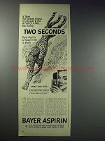 1948 Bayer Aspirin Ad - Two Seconds