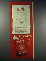 1948 Pall Mall Cigarettes Ad - Longer, Finer
