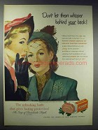 1948 Lifebuoy Soap Ad - Don't Let Whisper Behind Back