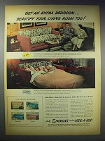 1948 Simmons Hide-A-Bed Sofa Bed Ad