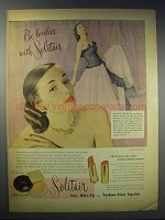 1948 Solitair Cake Make-up & Fashion-Point Lipstick Ad