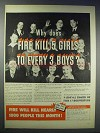 1948 National Board of Fire Underwriters Ad - Girls