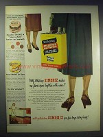 1948 Simoniz For Floors Wax Ad - Self-Polishing