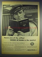 1948 American Trucking Industry Ad - Stiffest Rules
