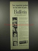 1948 Bufferin Medicine Ad - For Relief of Pain
