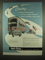 1954 Empire Homes Ad - Coming a New Company